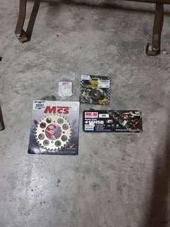 RXZ sprocket, chain and clutch gear