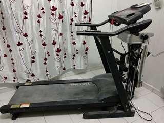 Takasima Motorised Treadmill + Tummy Exercise + Dumbells