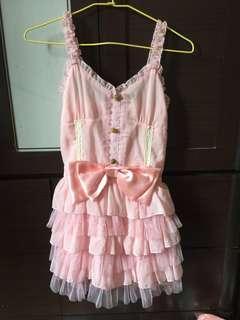 🚚 粉色禮服洋裝九月女裝半價