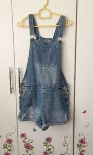COTTON ON DUNGAREES(LIGHT BLUE)
