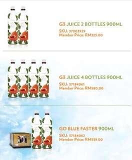 G3 Super Juice 2 bottles promo