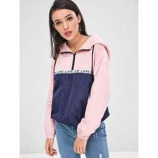 Windbreaker Jacket Hoodie for ladies