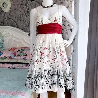 Whit&Red Cocktail Dress