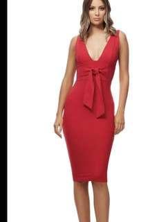 Kookai red dress size 1