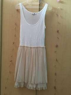 Tutu cream dress