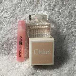 🚚 ~Chloe 白玫瑰小香水+Mandarina 粉紅泡泡 試管香水~