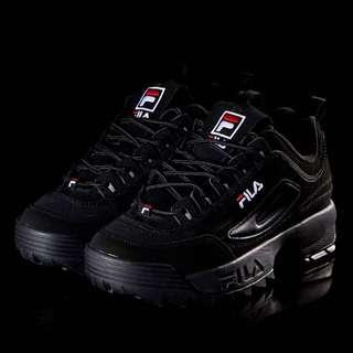 (instock) Fila Disruptors 2/II in Black