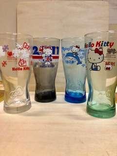 Hello kitty 40週年 經典玻璃曲線水杯