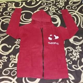 Jaket merah snoopy