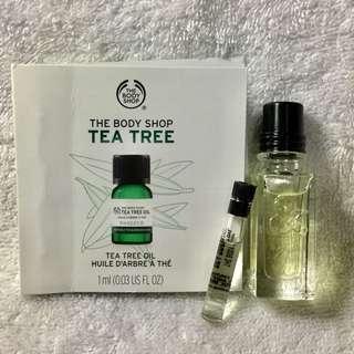 🚚 歐舒丹格拉斯 綠茶&香橙小香水+天然茶樹精油1ML~