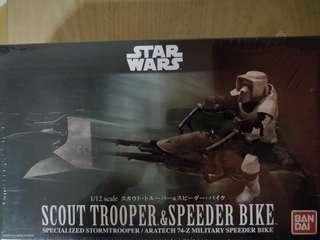 Bandai - Scout Trooper & Speeder Bike