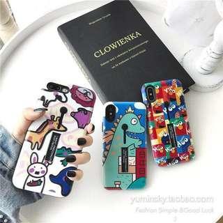Iphone 7plus / 8plus / X  cartoon case