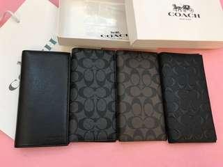 Original coach men Wallet purse Pouch Coin bag zip wallet