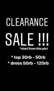 CLEARANCE SALE / TOP / PANTS / DISKON / OBRAL MURAH