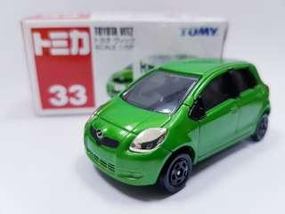 SALES! TOMICA #33 TAKARA TOMY TOYOTA VITZ GREEN 2005 1/59 SCALE #retired #discontinued