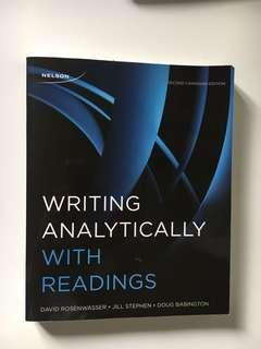 SSH 205: Writing Analytically With Readings