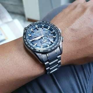 SEIKO 精工 SEE101J GPS 太陽能腕錶 45mm