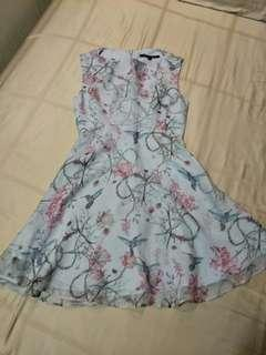 French Connection 'birds and garden' dress
