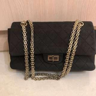 Chanel 2.55麂皮菱格包 老香包