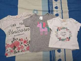 PL Assorted tees (3-6mths)