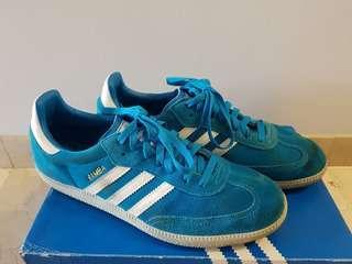 Adidas Originals Blue Samba Trainers Sneakers