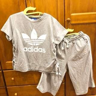 Adidas秋裝運動風套裝