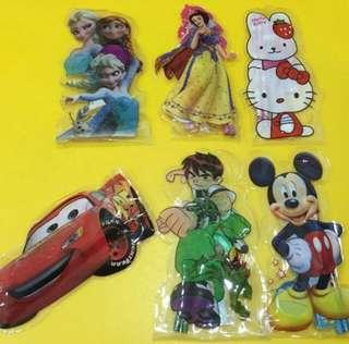 6 in 1 Cartoon Stationery Set