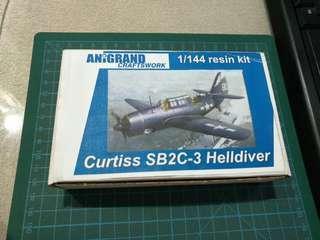 BNIB Anigrand Craftswork 1/144 SB2C-3 Curtiss Helldiver Resin kit. Super rare!