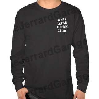 Anti Lepak Lepak Club Parody ASSC Long Sleeve T-Shirt