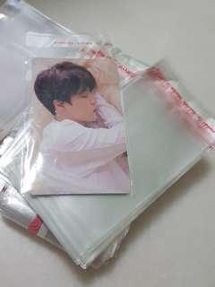 🚚 30 FOR $2.50 PHOTOCARD RESEALABLE SLEEVE PROTECTOR INSTOCK