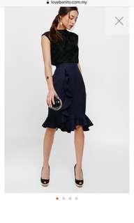 Ruffle Trumpet Skirt