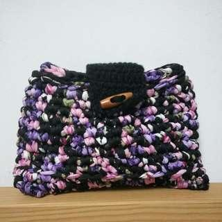 Unique woven knitted purse