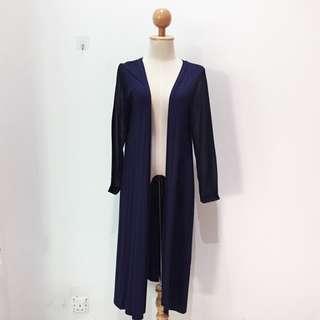 🆕BRAND NEW Basic Cotton Long Dark Blue Cardigan