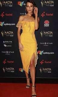 Rebecca Vallance RRP $800 Baha Midhi Dress BNWT Havana