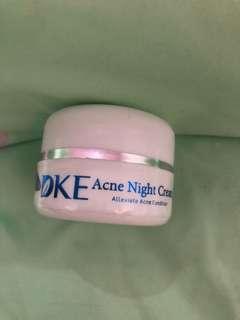 Dke acne night cream