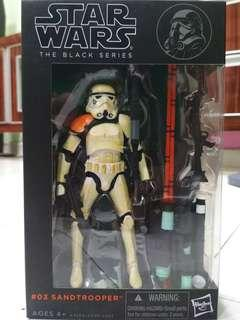 Star wars black series stormtrooper sandtrooper