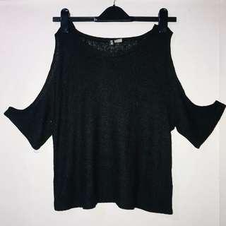 H&M Knit Cold Shoulder Top