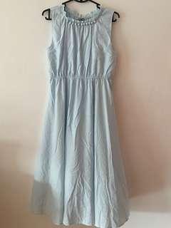 Baby blue flowy midi dress