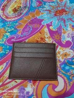 Card wallet - dompet kartu kulit safiano mulus