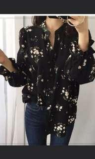 *INSTOCK* Floral long sleeve top