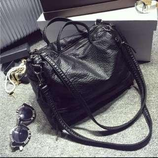 Black Boston two way Bag