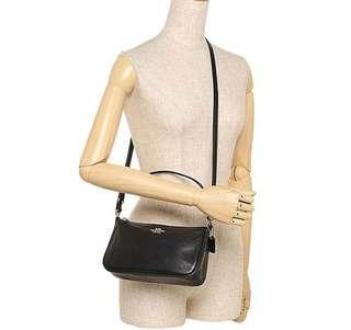 Coach Top Handle Pounch Leather