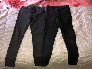 Pull&Bear - Celana Jeans Hitam (stretch)