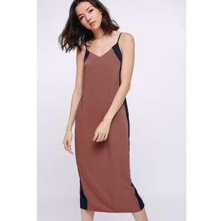 Love Bonito Nathaira Side Cutout Contrast Midi Dress