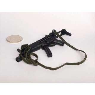 1:6 兵人 MP5A3 MP5 戰損版 可拆彈㘡 伸縮槍柄 包槍帶
