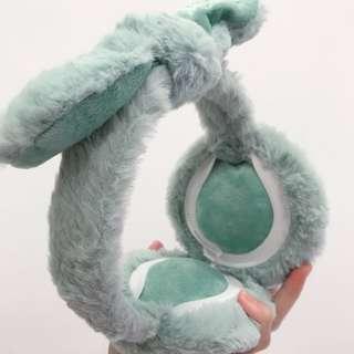 全新 粉綠色蝴蝶結耳罩