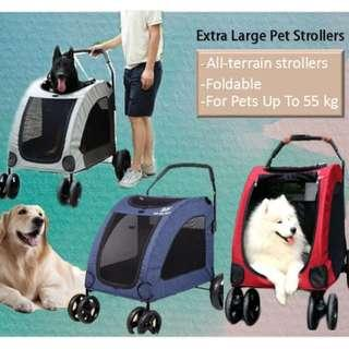 Pet Gear Expedition Pet Strollers Extra Large Pet Prams for large Dogs Senior Injured Dogs Dual Entry Pet Stroller