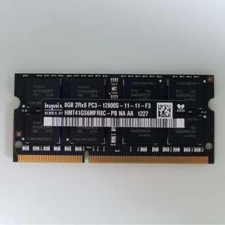 原裝Apple notebook RAM 8GB 2Rx8 PC3-12800S-11-11-F3