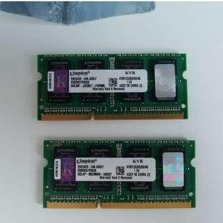 Kingston KVR1333D3S9/4G DDR3 1333 4GB Notebook RAM