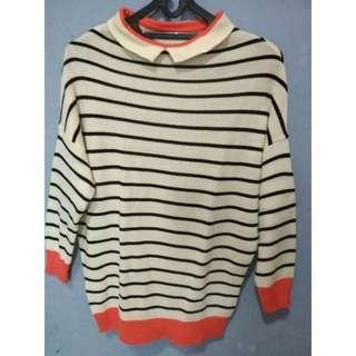 #MauIphoneX striped rajut sweater
